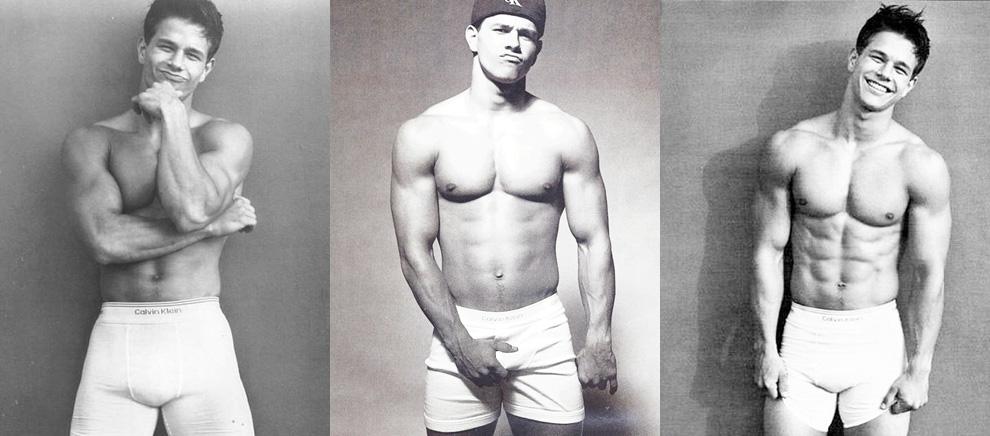 Lịch sử phát triển của chiếc quần lót nam - Calvin Klein Mark Wahlberg