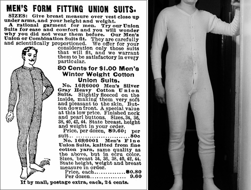 Lịch sử phát triển của chiếc quần lót nam - Hanes union suits